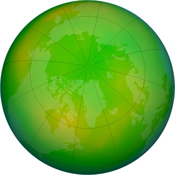 Arctic ozone map for 06